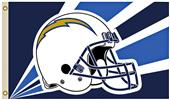 NFL Los Angeles Chargers Helmet Flag w/Grommet