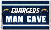 NFL Los Angeles Chargers Man Cave Flag w/Grommet