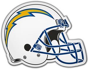 NFL Los Angeles Chargers Helmet Car Magnet