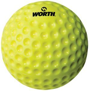 "9"" 11"" 12"" Dimpled Pitching Machine Yellow Balls"