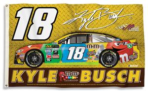 NASCAR Kyle Busch #18 3' x 5' 2-Sided Flag
