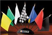 NASCAR 7 Piece Flag Desk Set