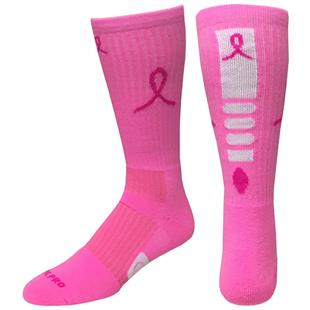 Breast Cancer Pink Ribbon Hero Crew Socks