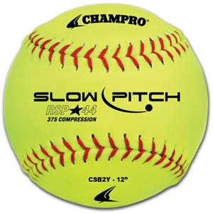 "12"" Yellow Recreational Slow Pitch Softball CSB2Y"