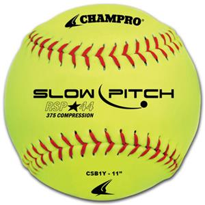 "11"" Yellow Recreational Slow Pitch Softball CSB1Y"