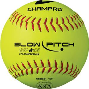 Champro Game .44 Slow Pitch ASA Softballs CSB6Y
