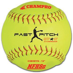 """12"""" Game Fast Pitch Softballs NFHS CSB5DYN"""