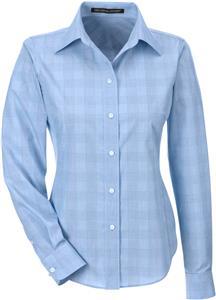 Devon & Jones Ladies Glen Plaid Shirt
