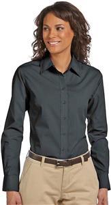 Harriton Ladies Long-Sleeve Essential Poplin