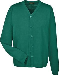 Harriton Mens Pilbloc Cardigan Sweater