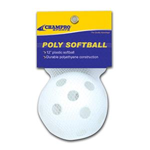 "Champro 12"" Poly Practice/Training Softballs"