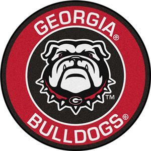Fan Mats NCAA University of Georgia Roundel Mat