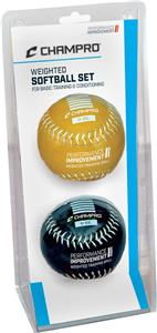 Champro Weighted Training Softballs-Advanced Set