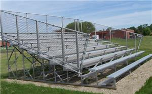 10 Row Bleachers (Without Aisles)