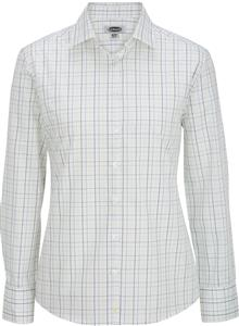 Edwards Womens Tattersall Poplin Shirt