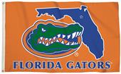 Collegiate Florida 3'x5' Flag w/State Outline