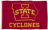 Collegiate Iowa State 3'x5' Flag w/State Outline