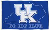 Collegiate Kentucky 3'x5' Flag w/State Outline