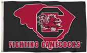 Collegiate S. Carolina 3'x5' Flag w/State Outline