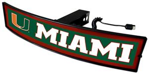 Fan Mats NCAA Miami Light Up Hitch Cover