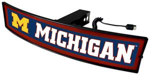 Fan Mats NCAA Michigan Light Up Hitch Cover