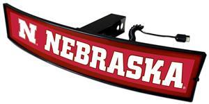 Fan Mats NCAA Nebraska Light Up Hitch Cover
