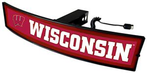 Fan Mats NCAA Wisconsin Light Up Hitch Cover
