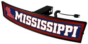 Fan Mats NCAA Mississippi Light Up Hitch Cover