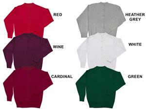 Low Pill Acrylic Youth/Adult Cardigan Sweaters