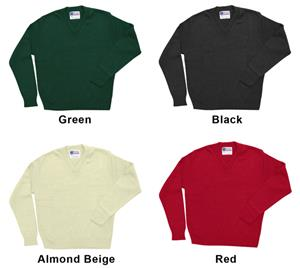 Low Pill Acrylic Youth/Adult V-Neck Sweaters