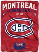 "Northwest NHL Montreal ""Inspired"" Raschel Throw"