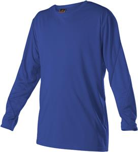 Alleson Adult/Youth Color Block LS Tech Tee