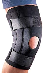Neoprene Knee Support w/Patella Open Steel Stays