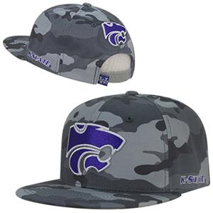 Kansas State University Camo Snapback Cap