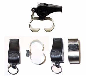 (Defective) Finger Grip Plastic Whistles -Closeout