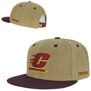 Central Michigan Univ Heavy Jute Snapback Cap