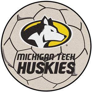 Fan Mats NCAA Michigan Tech Soccer Ball Mat