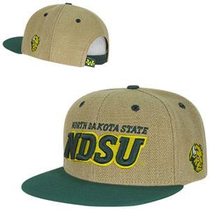 North Dakota State Univ Heavy Jute Snapback Cap