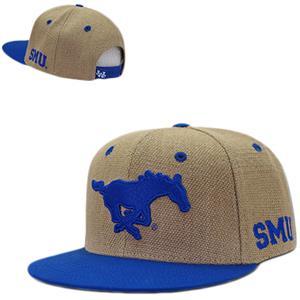 Southern Methodist Univ Heavy Jute Snapback Cap