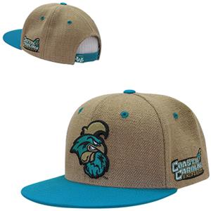Coastal Carolina Univ Heavy Jute Snapback Cap