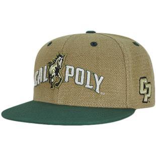 Cal State Poly Heavy Jute Snapback Cap