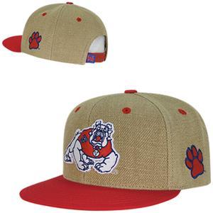 Fresno State Heavy Jute Snapback Cap
