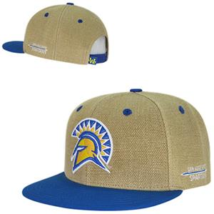 San Jose State University Heavy Jute Snapback Cap