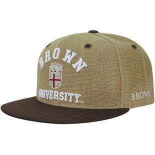 Brown University Heavy Jute Snapback Cap