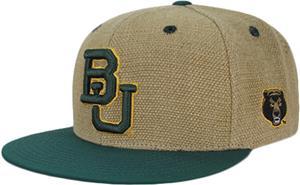 Baylor University Heavy Jute Snapback Cap