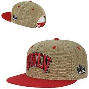 Univ Nevada Las Vegas Heavy Jute Snapback Cap