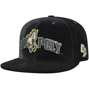 Cal State Poly Velvet Snapback Cap
