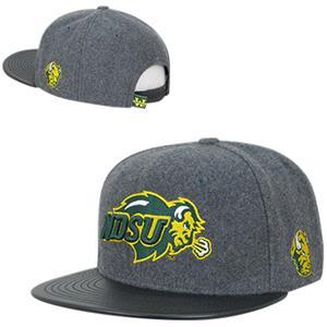 North Dakota State Univ Melton Vinyl Snapback Cap