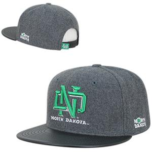 University North Dakota Melton Vinyl Snapback Cap