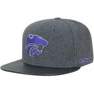 Kansas State University Melton Vinyl Snapback Cap